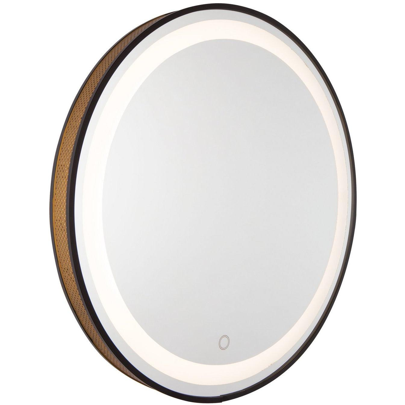 Artcraft Lighting - AM315 - LED Mirror - Reflections - Matte Black & Gold