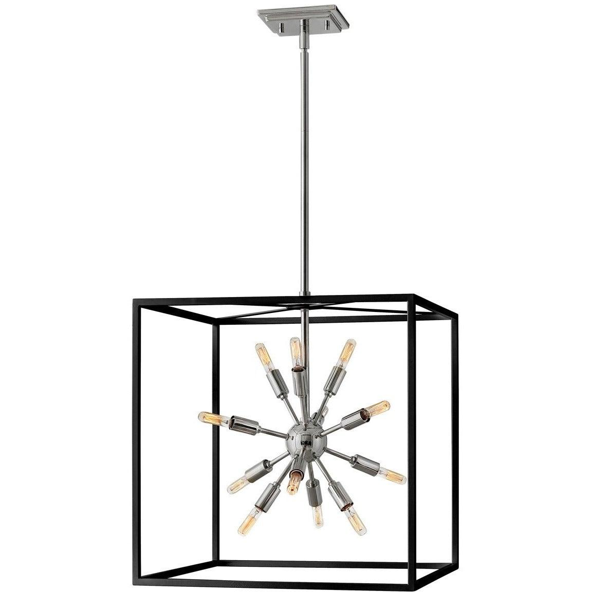 Hinkley Canada - 46314BLK-PN - 12 Light Chandelier - Aros - Black With Polished Nickel