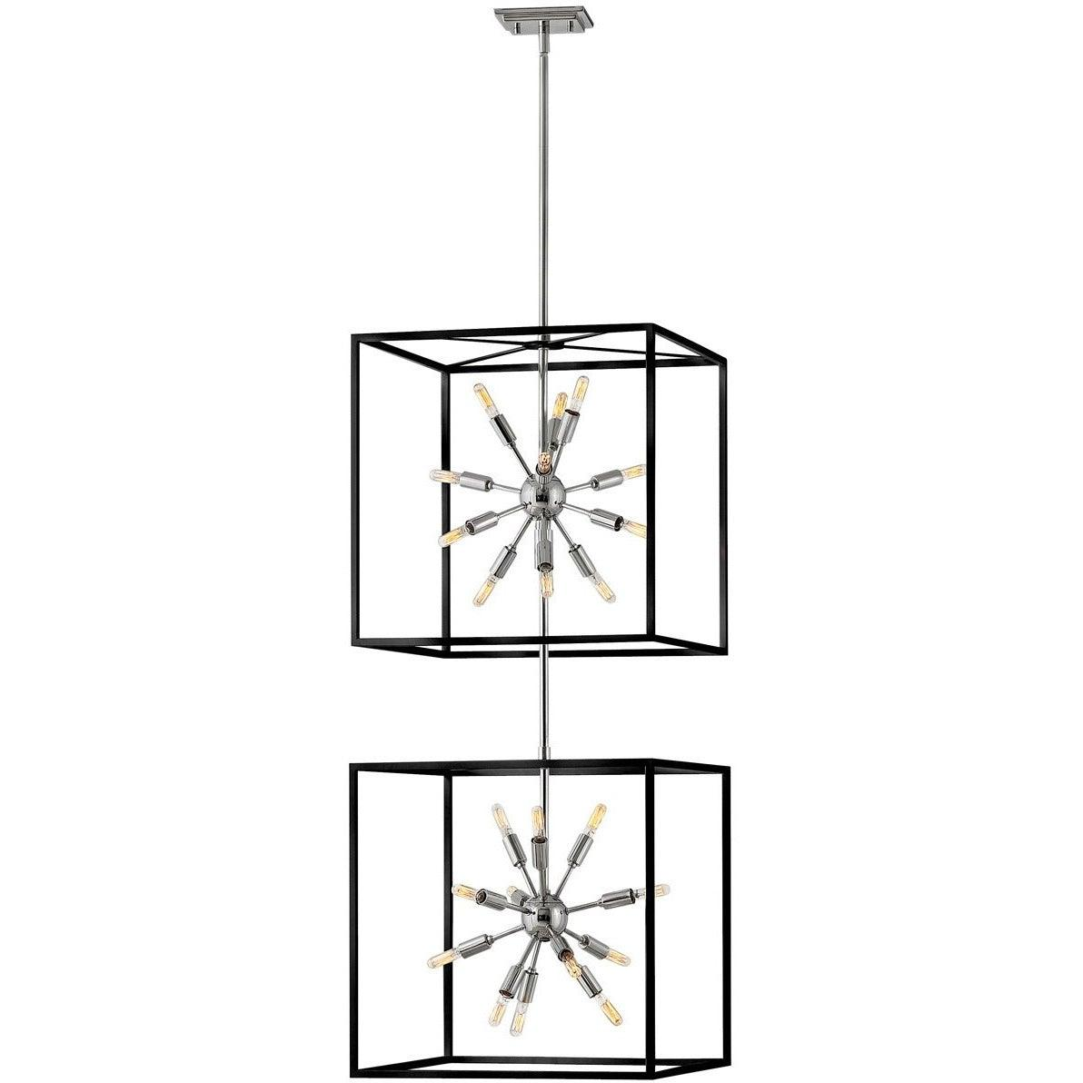 Hinkley Canada - 46316BLK-PN - 24 Light Chandelier - Aros - Black With Polished Nickel