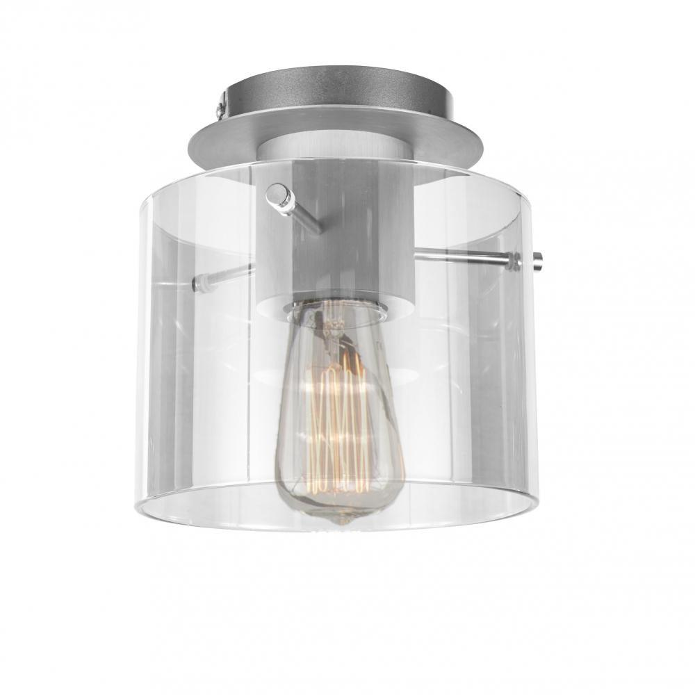 Artcraft Lighting - AC11525CL - One Light Flush Mount - Henley - Brushed Aluminum & Clear Glass