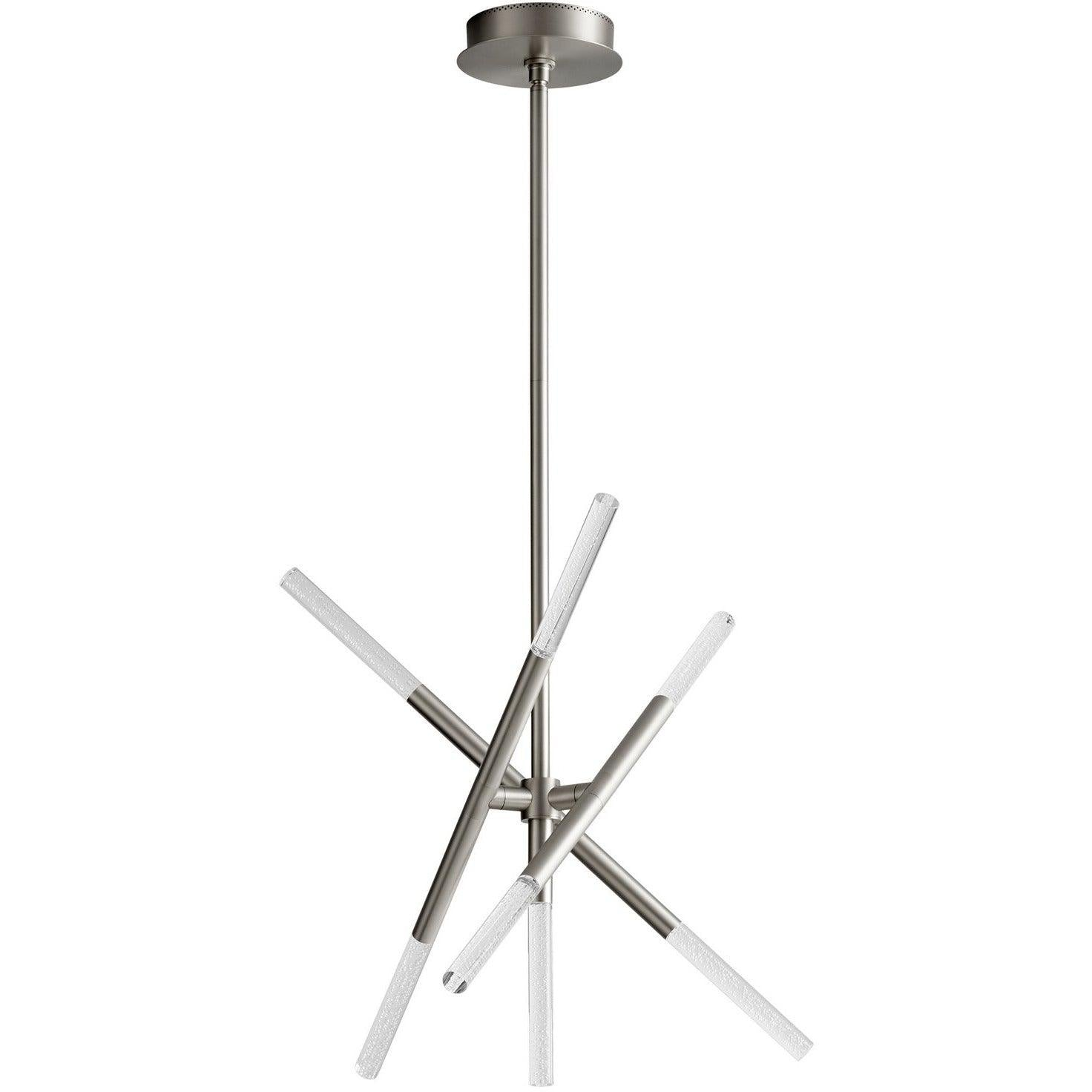 Oxygen - 3-696-24 - LED Ceiling Mount - Moxy - Satin Nickel