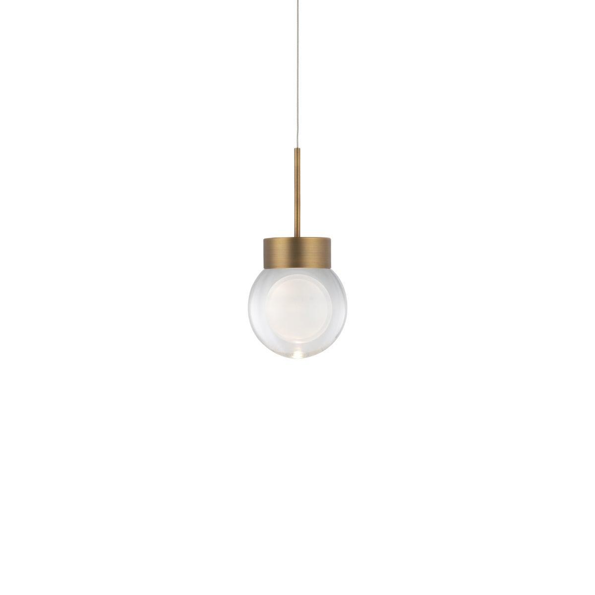 Modern Forms Canada - PD-82006-AB - LED Pendant - Double Bubble - Aged Brass