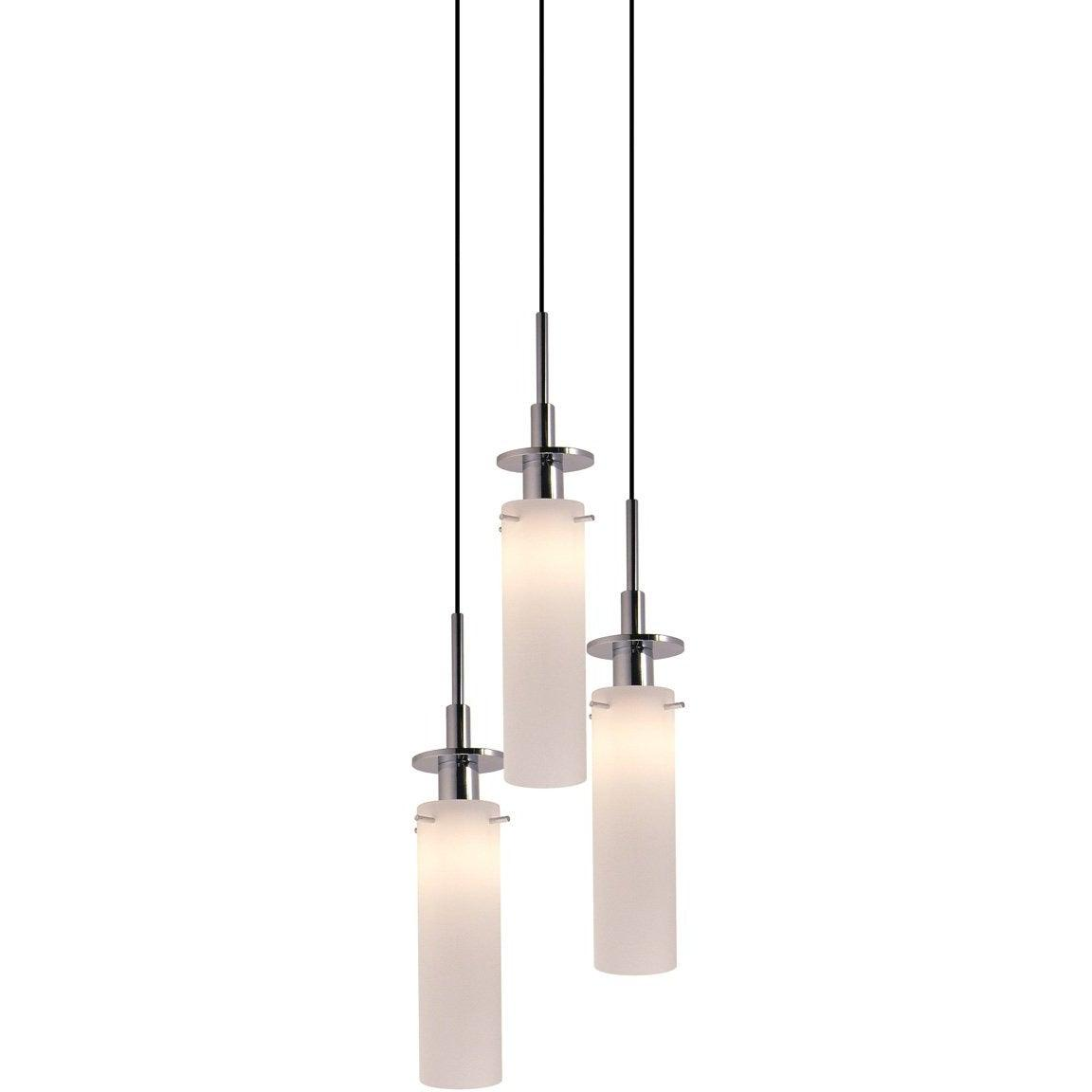 Sonneman - A Way of Light - 3034.01 - Three Light Pendant - Candle - Polished Chrome