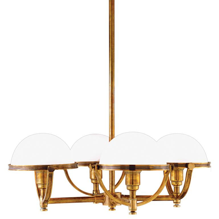 Hudson Valley - 3314-AGB - Four Light Chandelier - Stratford - Aged Brass