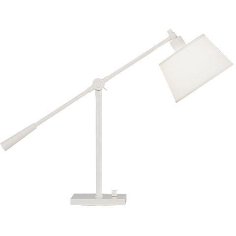 Robert Abbey - 1803 - Desk Lamp - Real Simple - Stardust White