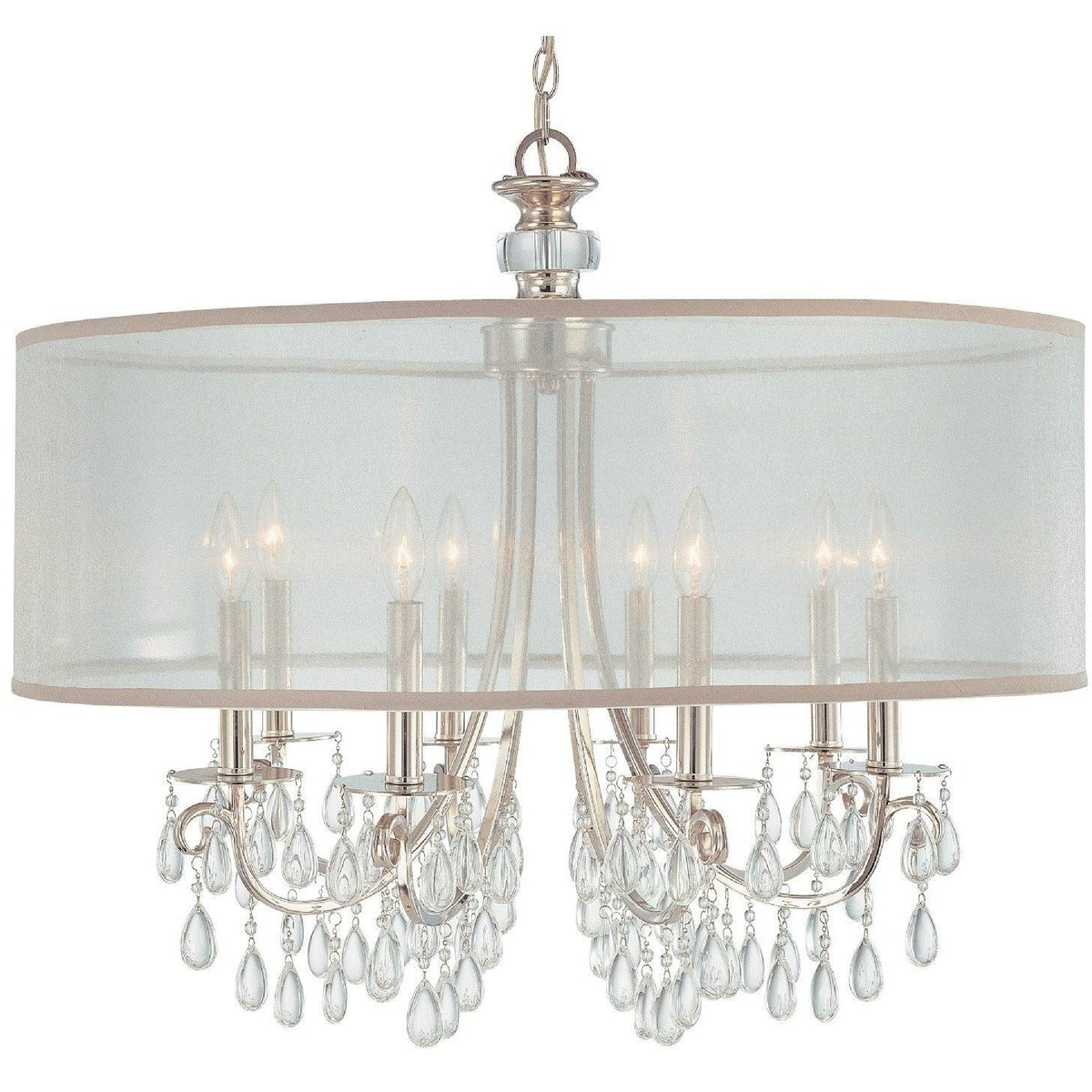 Crystorama - 5628-CH - Eight Light Chandelier - Hampton - Polished Chrome