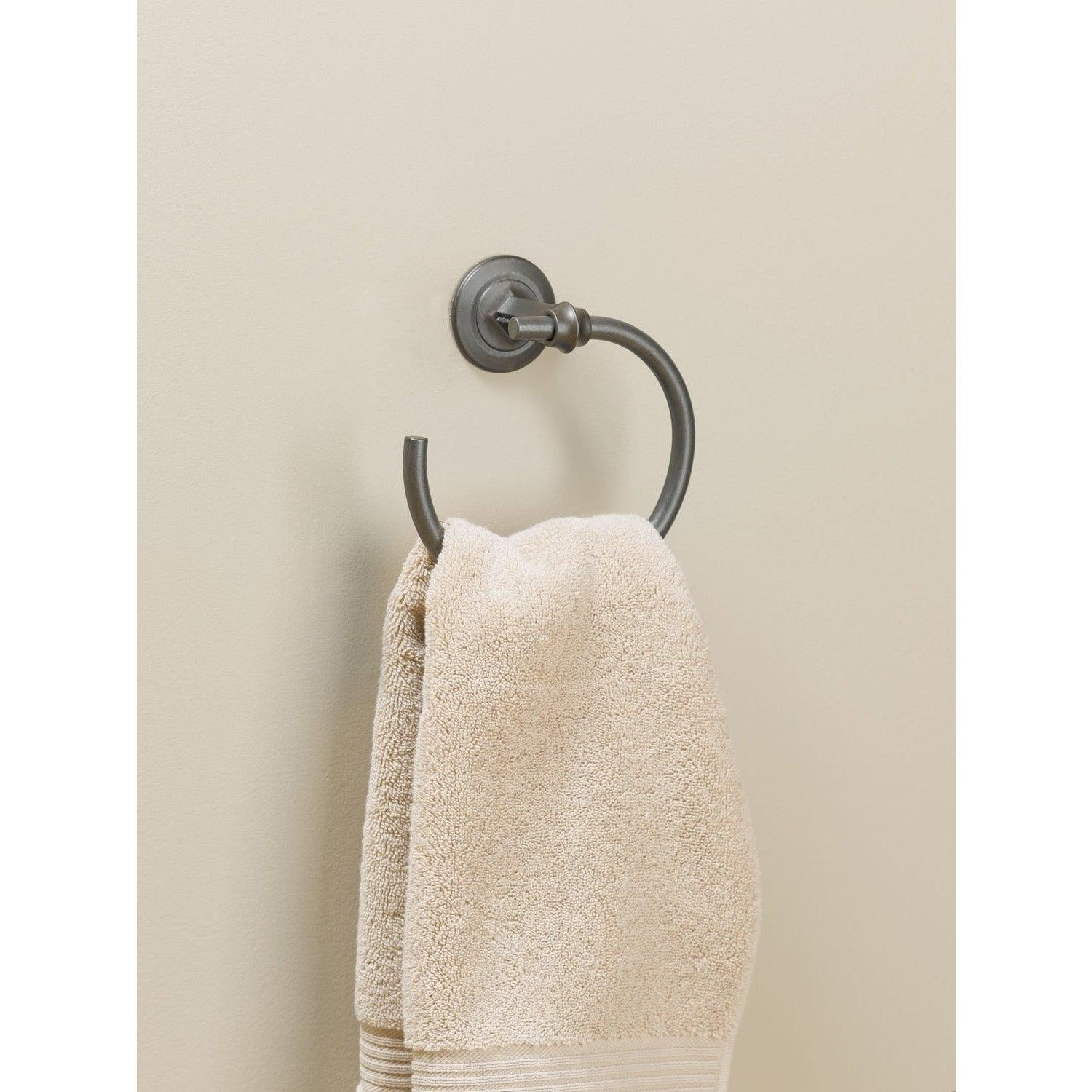 Hubbardton Forge - 844003-08 - Towel Ring - Rook - Burnished Steel