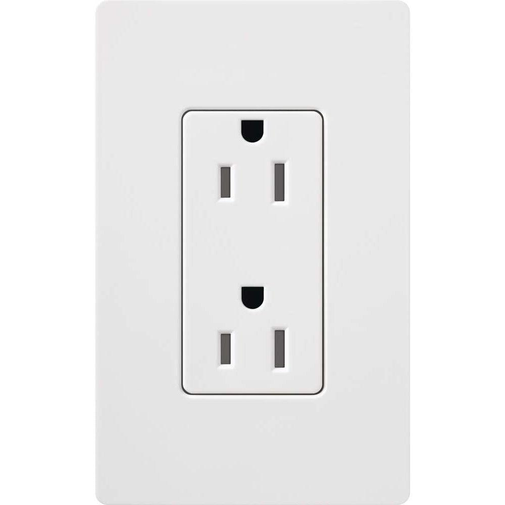 Lutron - CARS-15-TR-WH - 15A Tamper Resistant Receptacle - Claro & Satin Colors - White