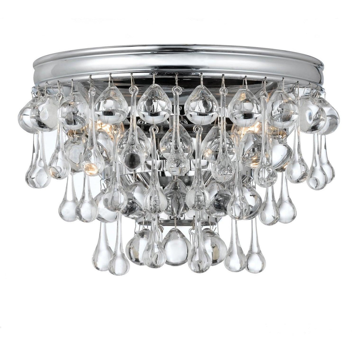 Crystorama - 132-CH - Two Light Wall Mount - Calypso - Polished Chrome