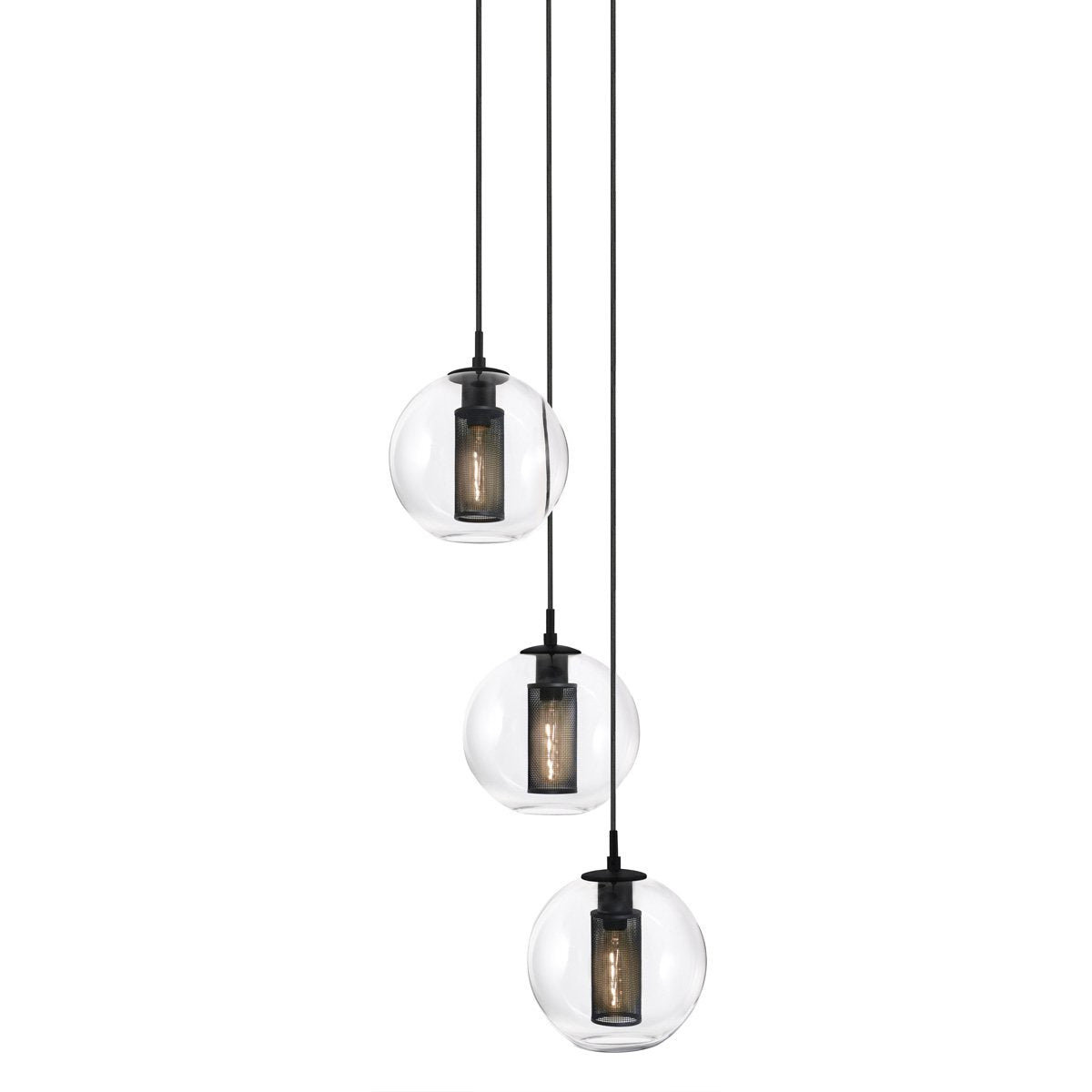 Sonneman - A Way of Light - 4934.97 - Three Light Pendant - Tribeca - Textured Black