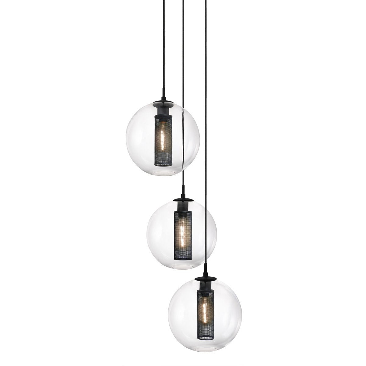 Sonneman - A Way of Light - 4935.97 - Three Light Pendant - Tribeca - Textured Black