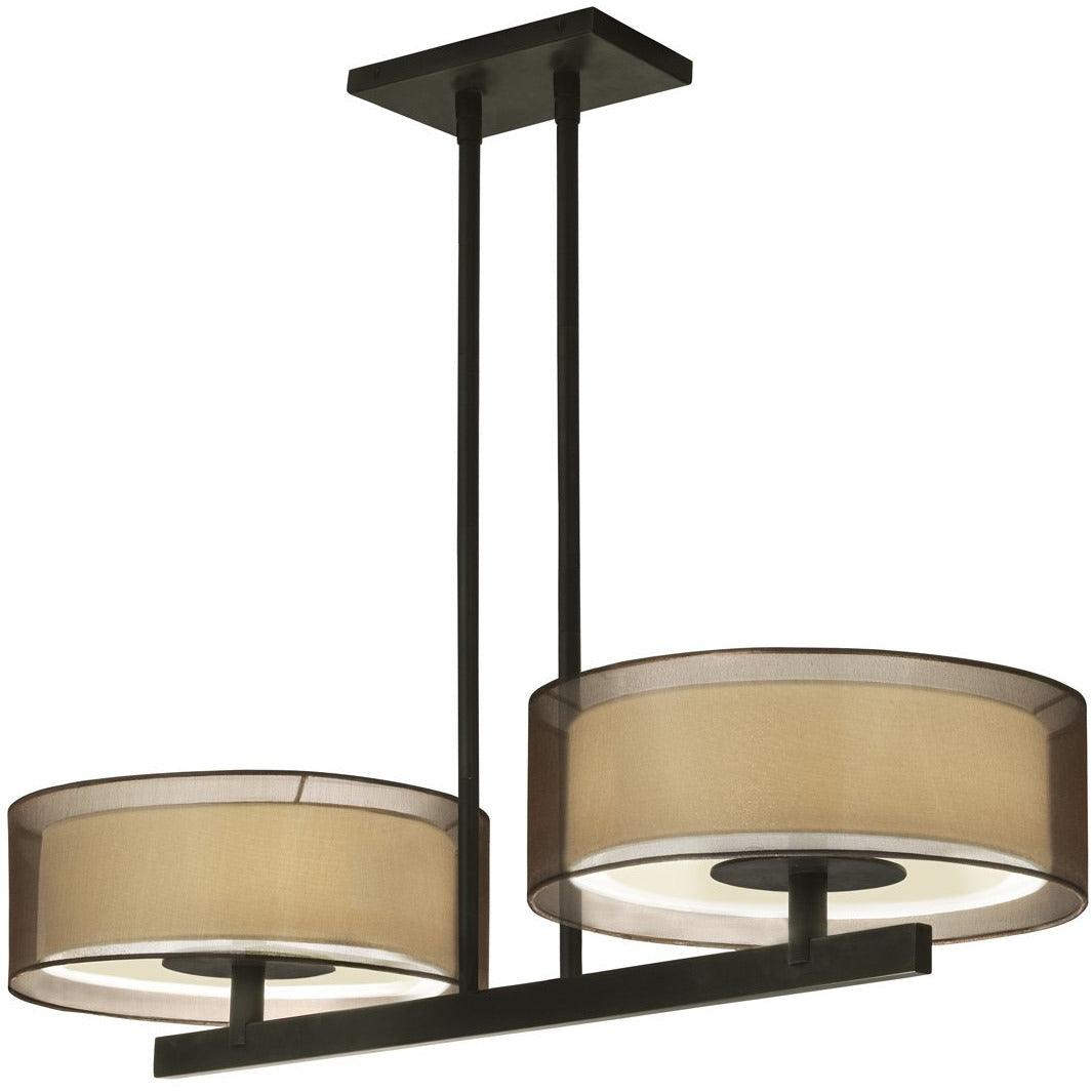 Sonneman - A Way of Light - 6000.51 - Four Light Pendant - Puri - Black Brass