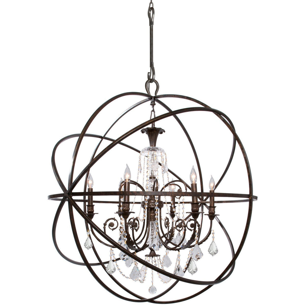 Crystorama - 9219-EB-CL-S - Six Light Chandelier - Solaris - English Bronze