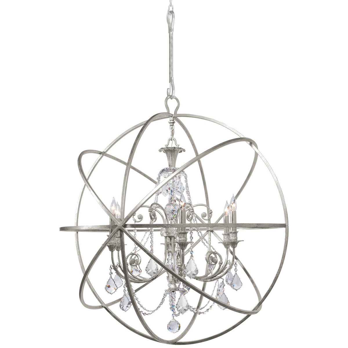 Crystorama - 9219-OS-CL-S - Six Light Chandelier - Solaris - Olde Silver