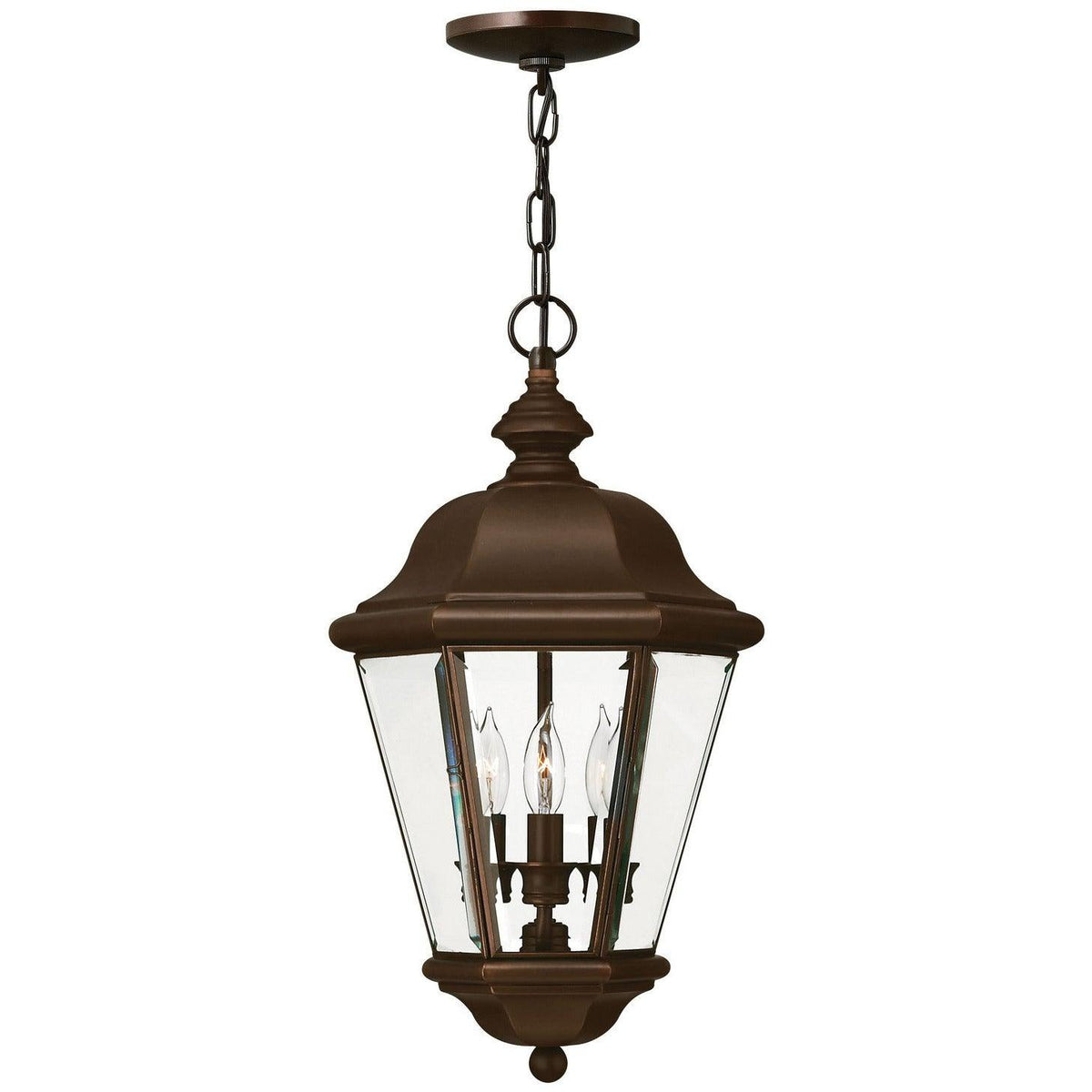 Hinkley Canada - 2422CB - Three Light Hanging Lantern - Clifton Park - Copper Bronze