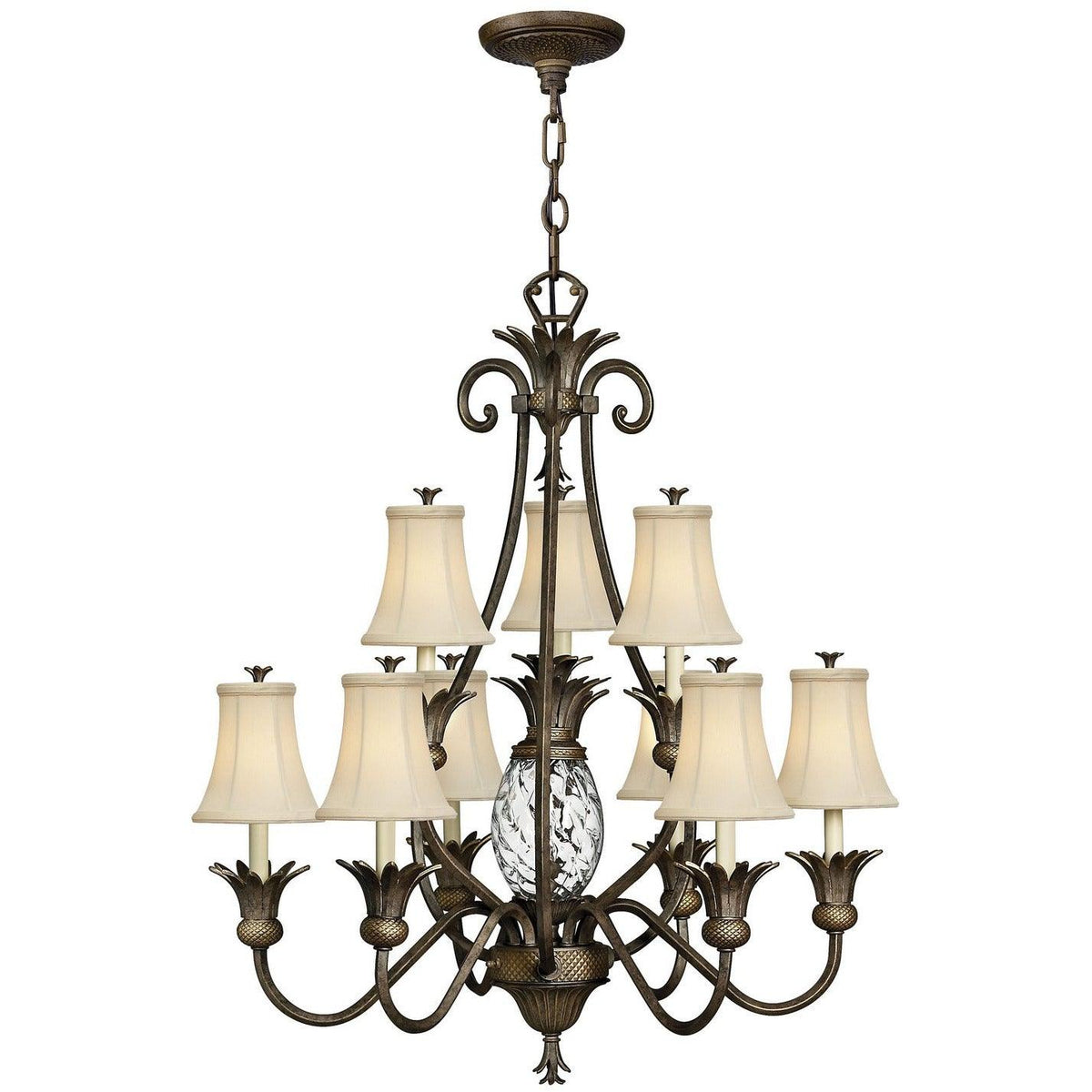 Hinkley Canada - 4887PZ - Ten Light Foyer Chandelier - Plantation - Pearl Bronze