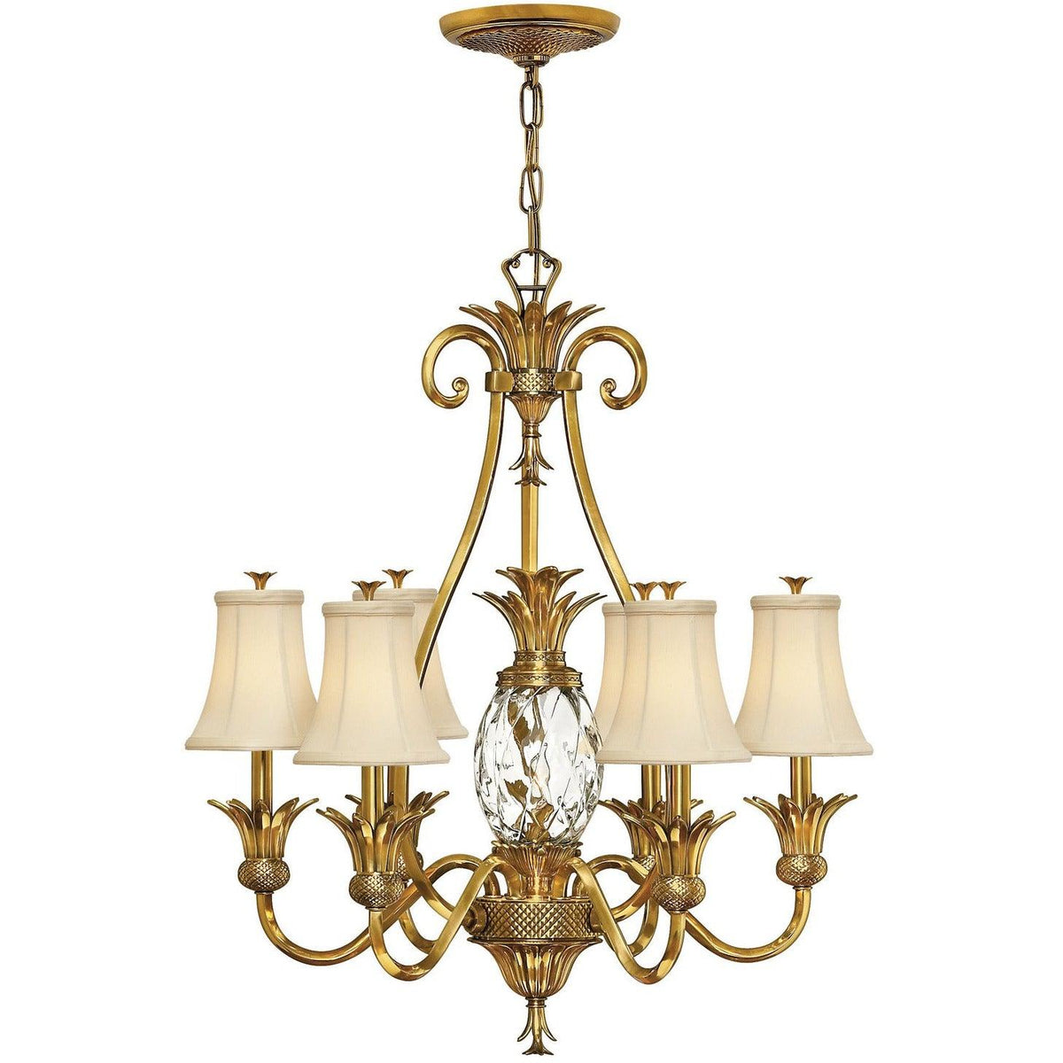 Hinkley Canada - 4886BB - Seven Light Foyer Pendant - Plantation - Burnished Brass