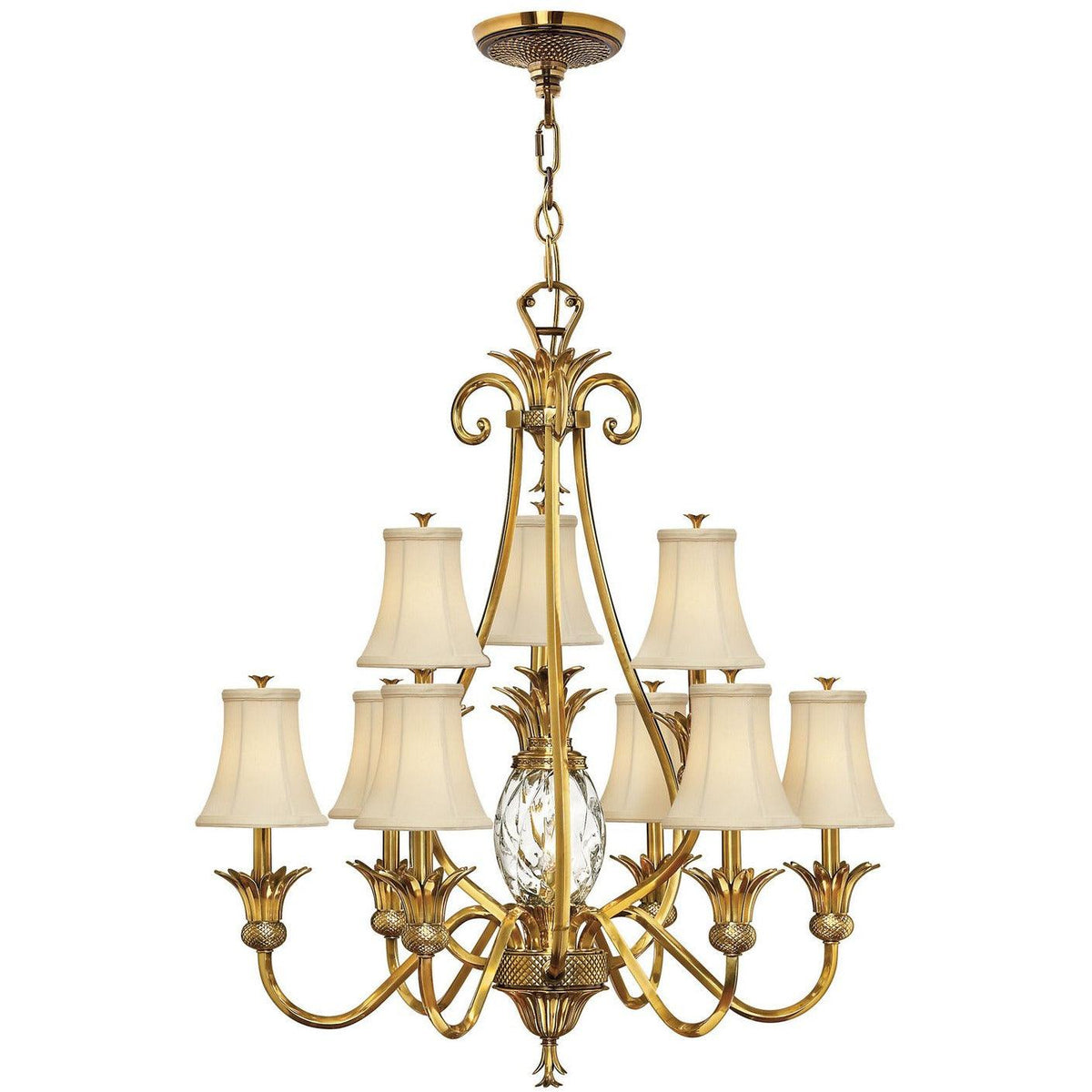 Hinkley Canada - 4887BB - Ten Light Foyer Chandelier - Plantation - Burnished Brass