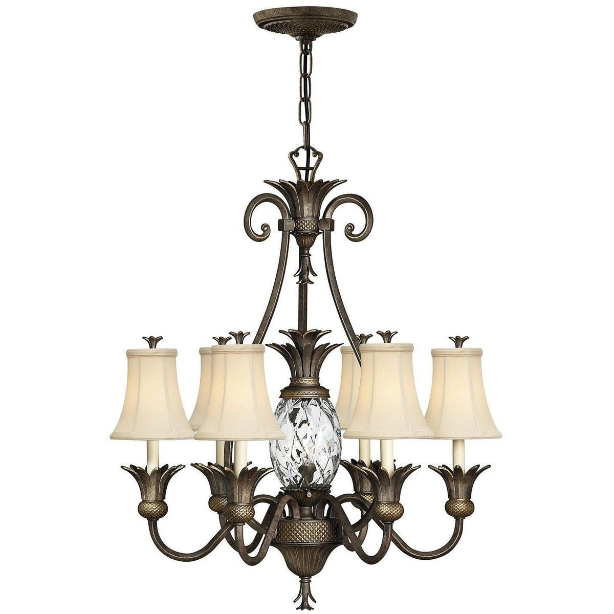 Hinkley Canada - 4886PZ - Seven Light Foyer Pendant - Plantation - Pearl Bronze
