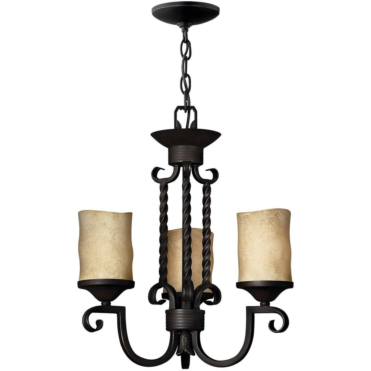 Hinkley Canada - 4013OL - Three Light Chandelier - Casa - Olde Black