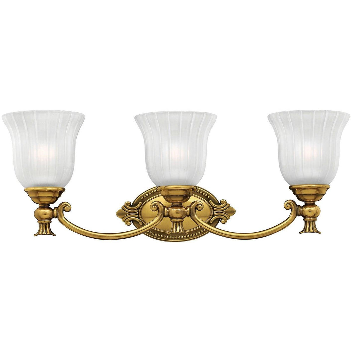 Hinkley Canada - 5583BB - Three Light Bath - Francoise - Burnished Brass