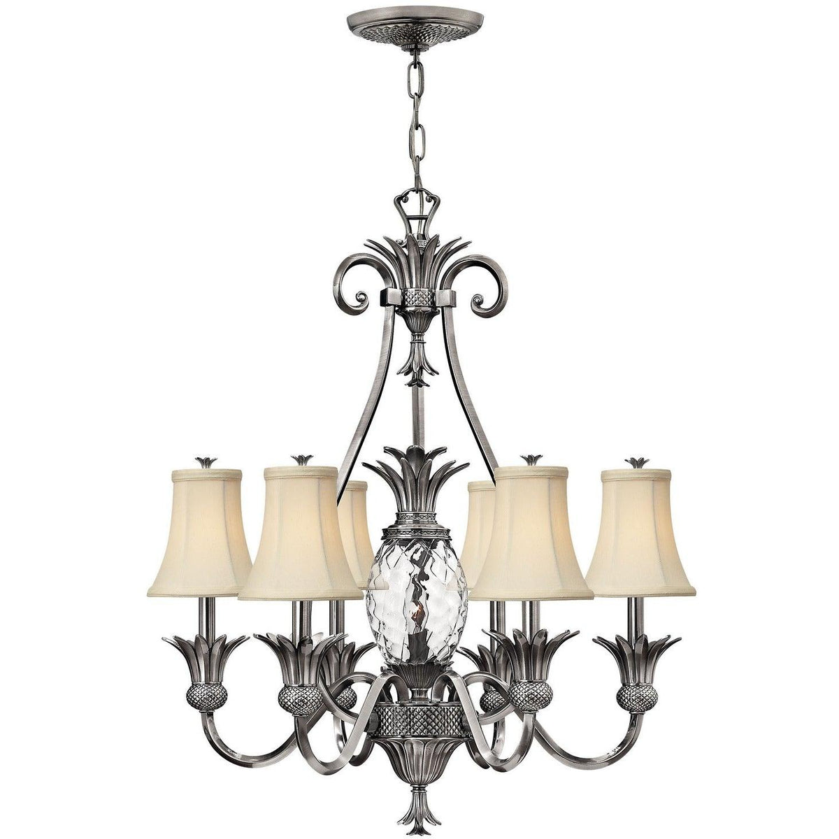 Hinkley Canada - 4886PL - Seven Light Foyer Pendant - Plantation - Polished Antique Nickel