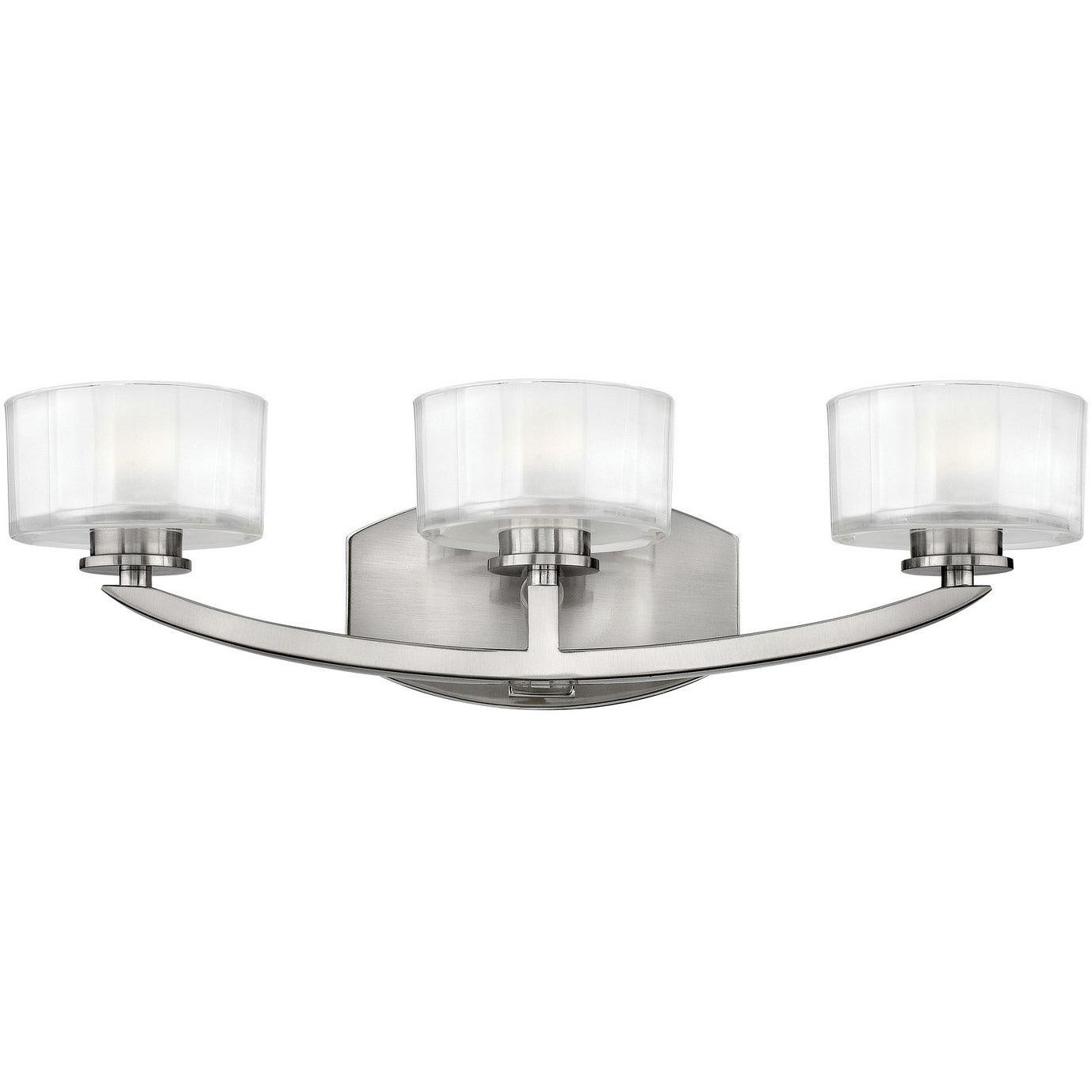 Hinkley Canada - 5593BN - Three Light Bath - Meridian - Brushed Nickel
