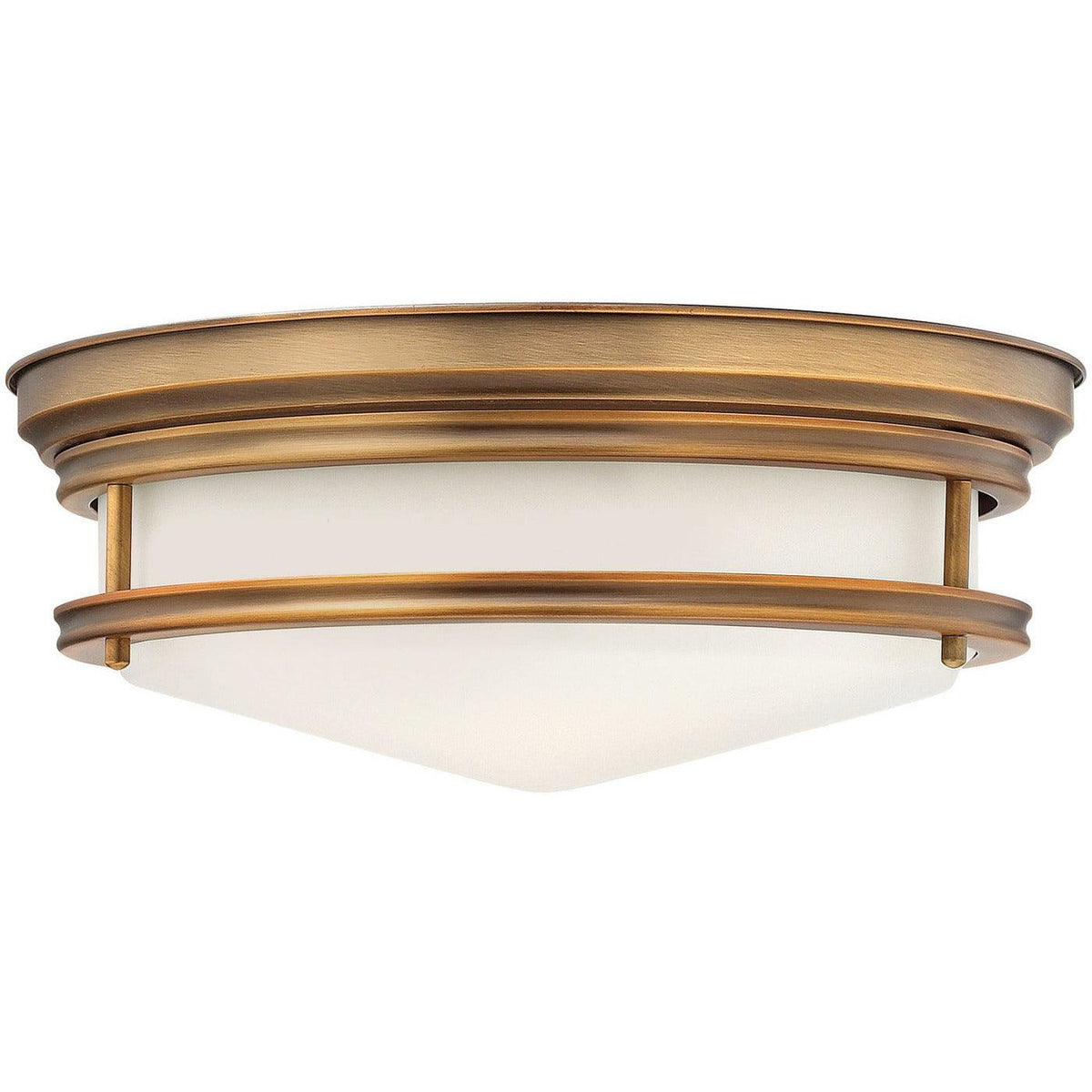 Hinkley Canada - 3301BR - Three Light Flush Mount - Hadley - Brushed Bronze