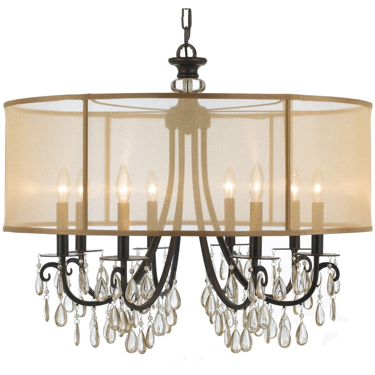 Crystorama - 5628-EB - Eight Light Chandelier - Hampton - English Bronze