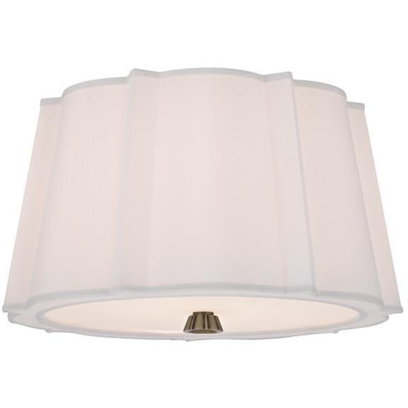 Hudson Valley - 4817-AGB - Two Light Semi Flush Mount - Humphrey - Aged Brass