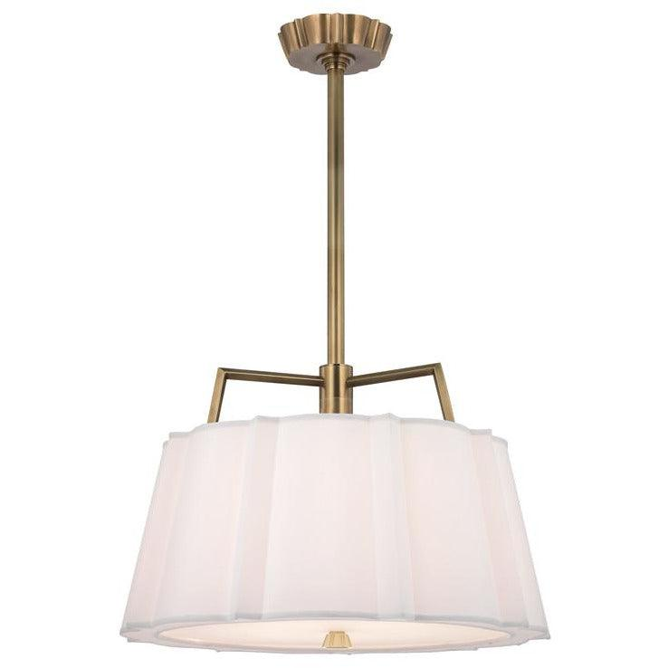 Hudson Valley - 4824-AGB - Four Light Pendant - Humphrey - Aged Brass
