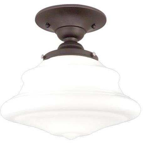 Hudson Valley - 3409F-OB - One Light Semi Flush Mount - Petersburg - Old Bronze