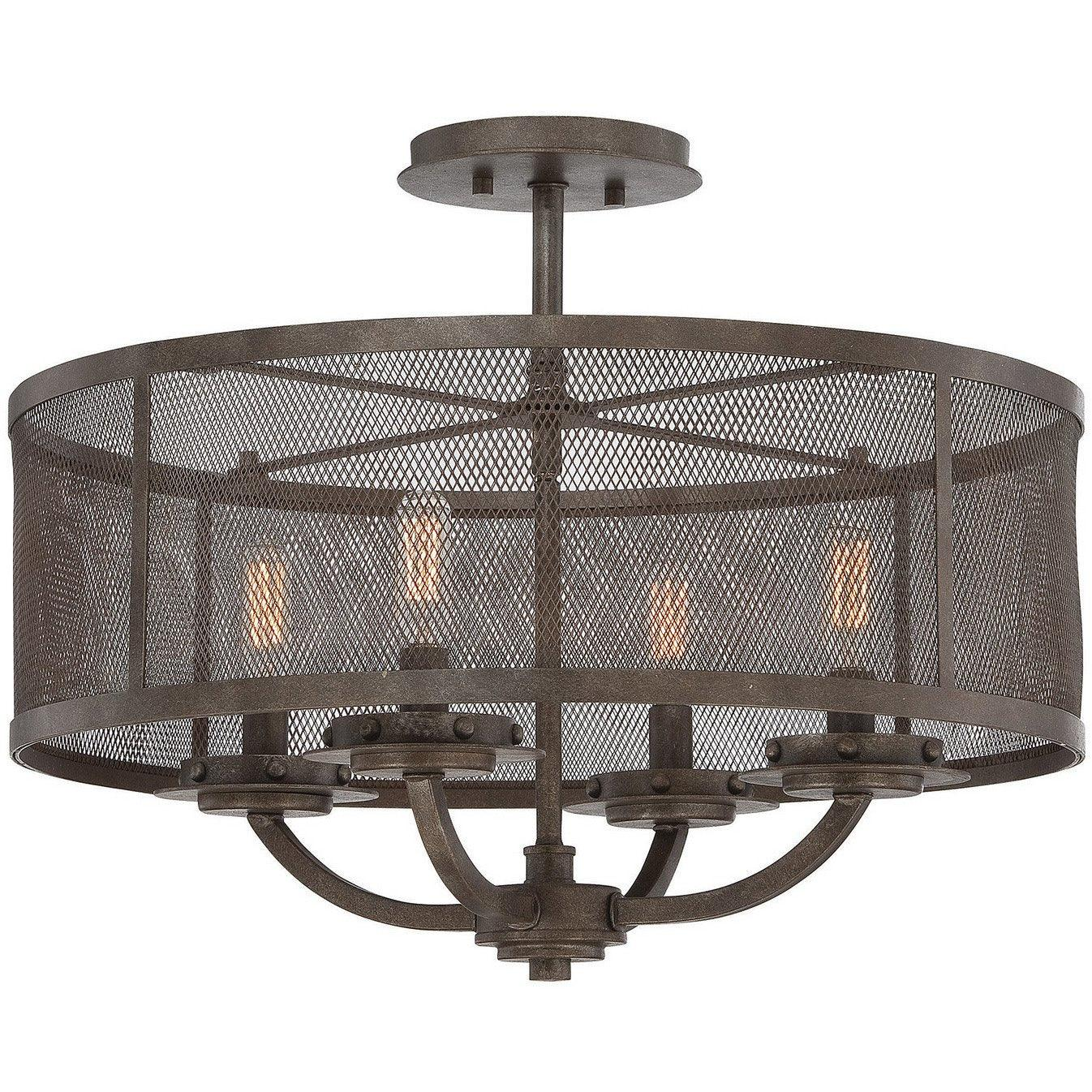 Savoy House - 6-2504-4-42 - Four Light Semi-Flush Mount - Nouvel - Galaxy Bronze