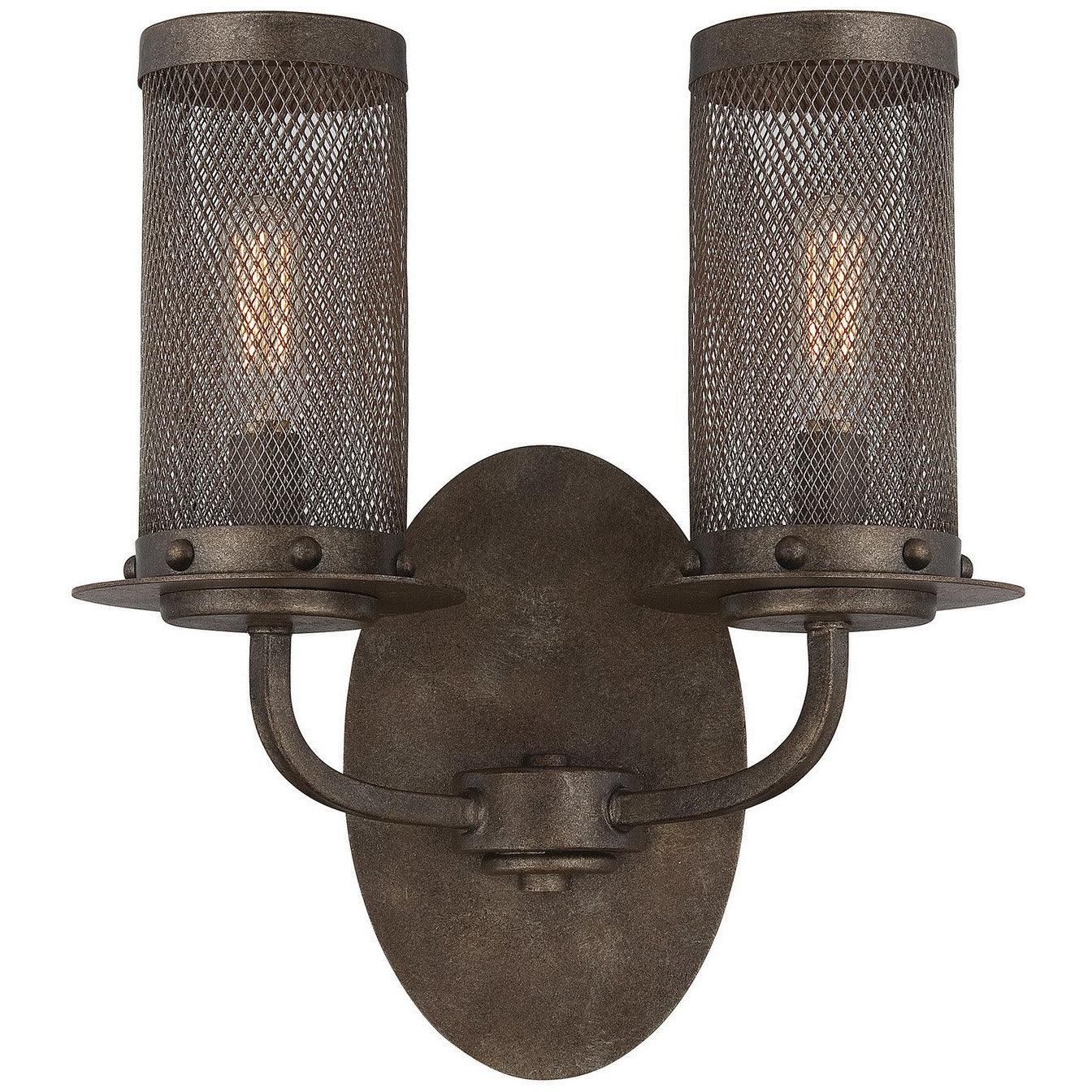 Savoy House - 9-2505-2-42 - Two Light Wall Sconce - Nouvel - Galaxy Bronze