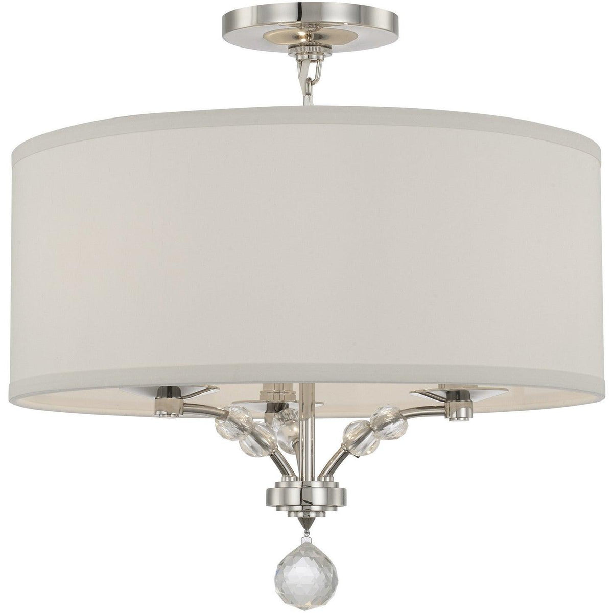Crystorama - 8005-PN_CEILING - Three Light Ceiling Mount - Mirage - Polished Nickel