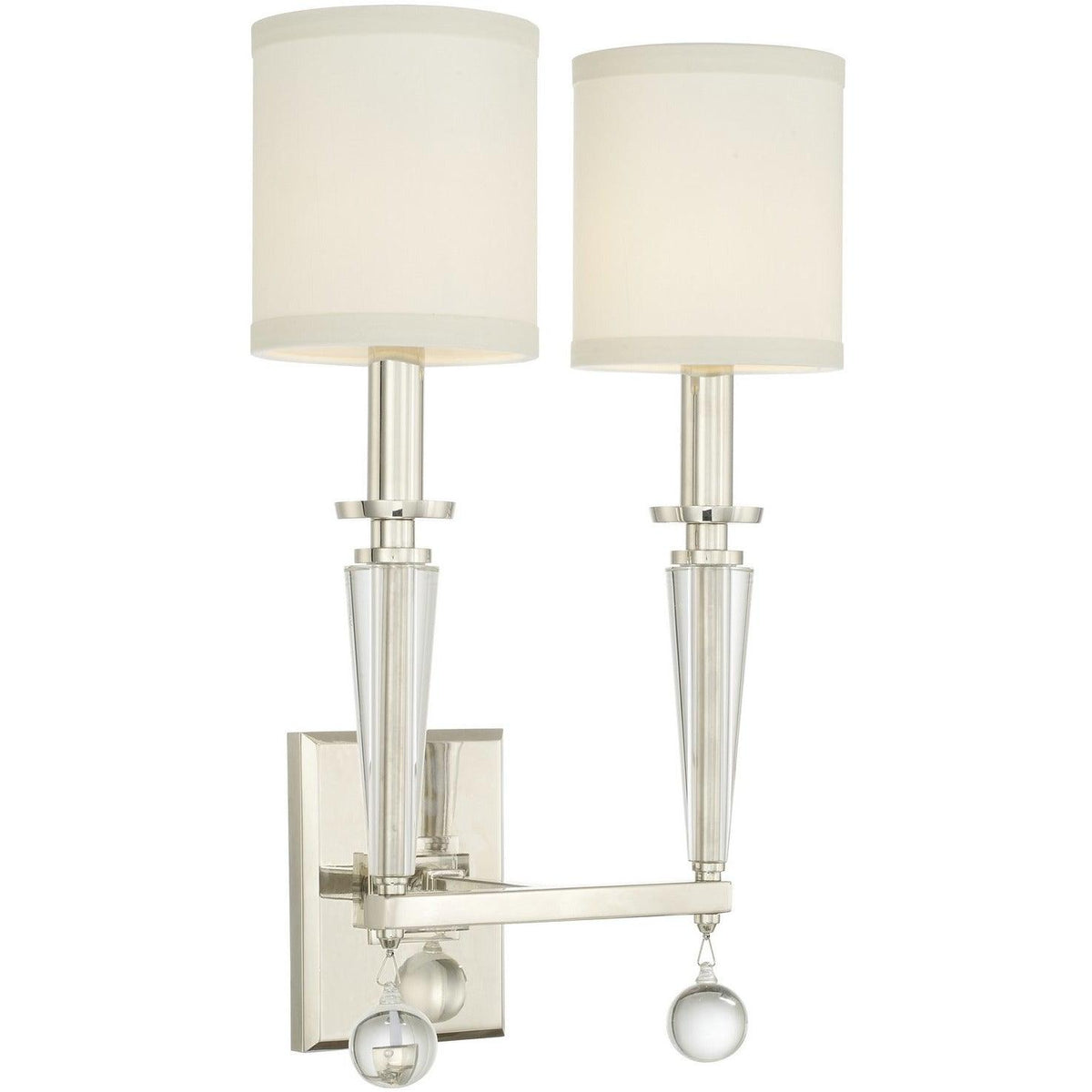 Crystorama - 8102-PN - Two Light Wall Mount - Paxton - Polished Nickel