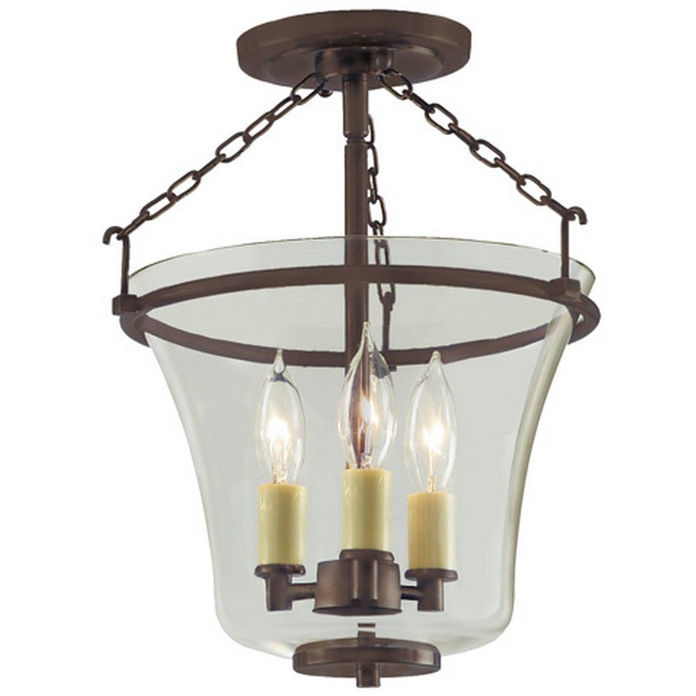 JVI Designs - 1182 - Semi Flush Mount - Greenwich - Oil Rubbed Bronze
