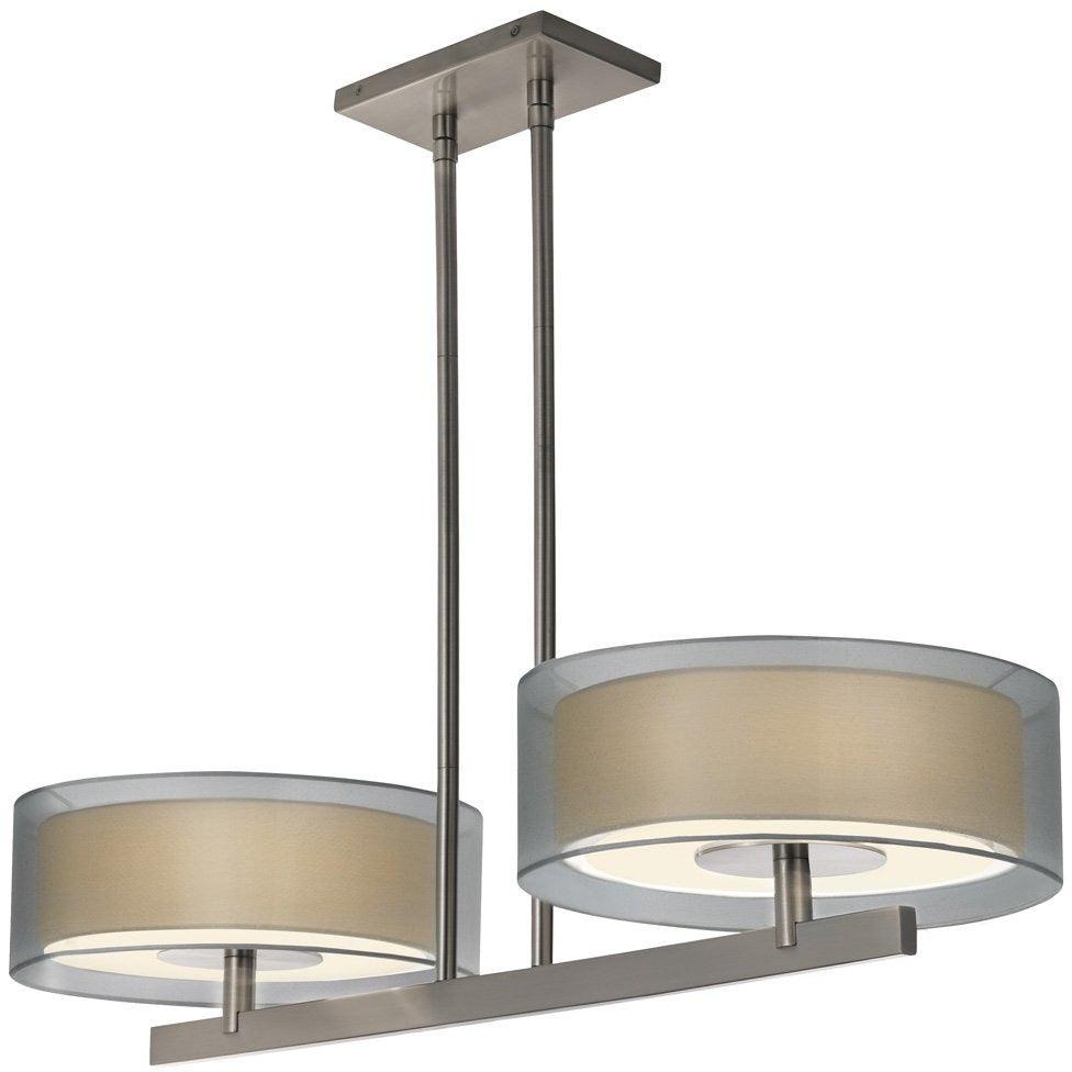 Sonneman - A Way of Light - 6000.13 - Four Light Pendant - Puri - Satin Nickel