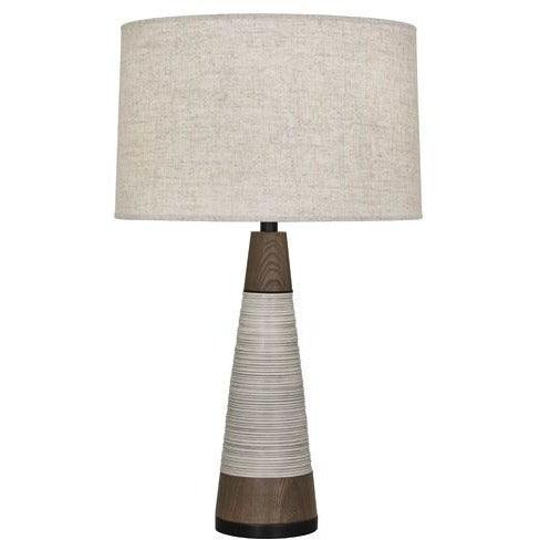 Robert Abbey - 571 - Tapered Table Lamp - Berkley - Antique Oyster & Walnuted Wood