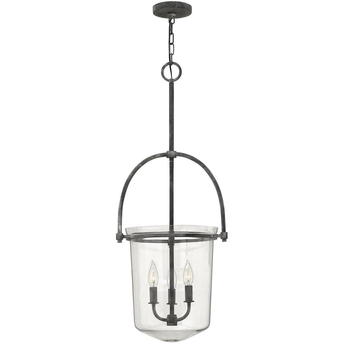 Hinkley Canada - 3033DZ - Three Light Foyer Pendant - Clancy - Aged Zinc