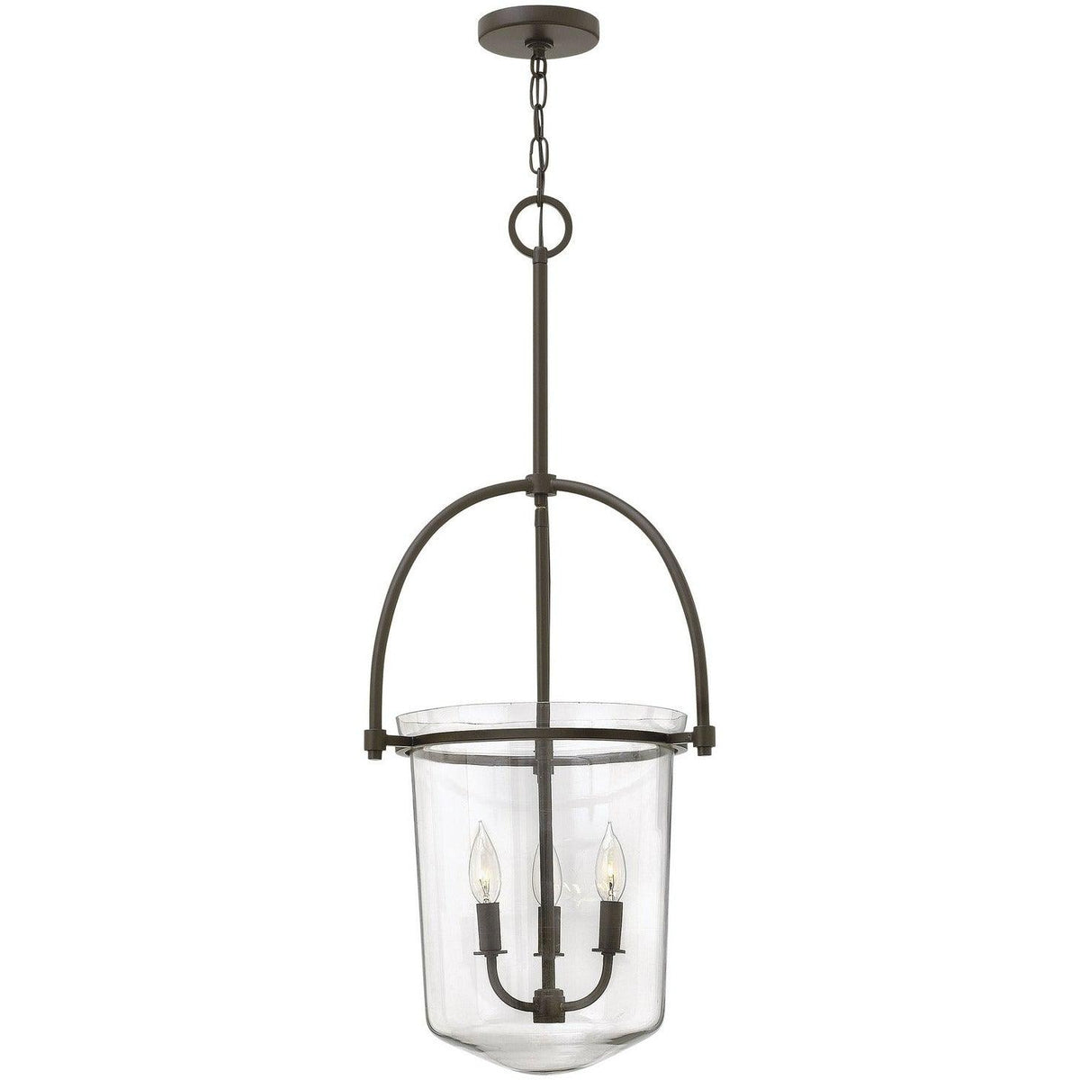 Hinkley Canada - 3033KZ - Three Light Foyer Pendant - Clancy - Buckeye Bronze