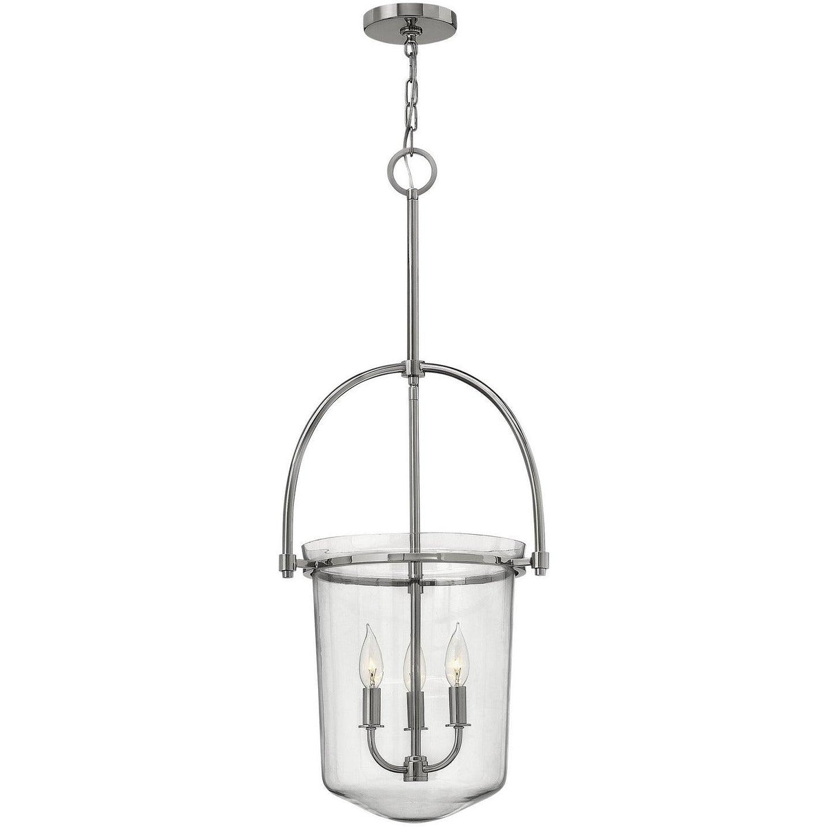Hinkley Canada - 3033PN - Three Light Foyer Pendant - Clancy - Polished Nickel