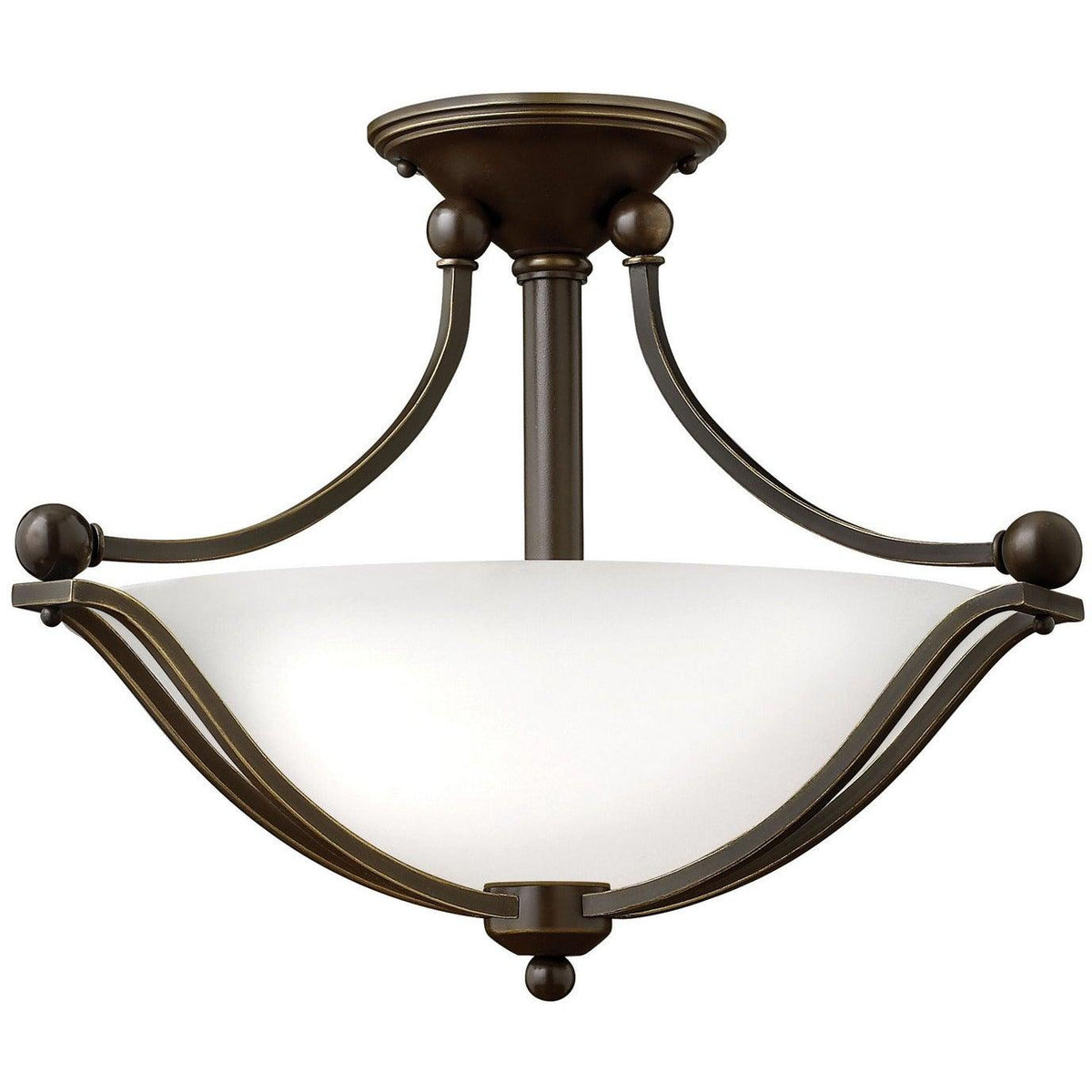 Hinkley Canada - 4651OB-OPAL - Two Light Semi-Flush Mount - Bolla - Olde Bronze With Opal Glass