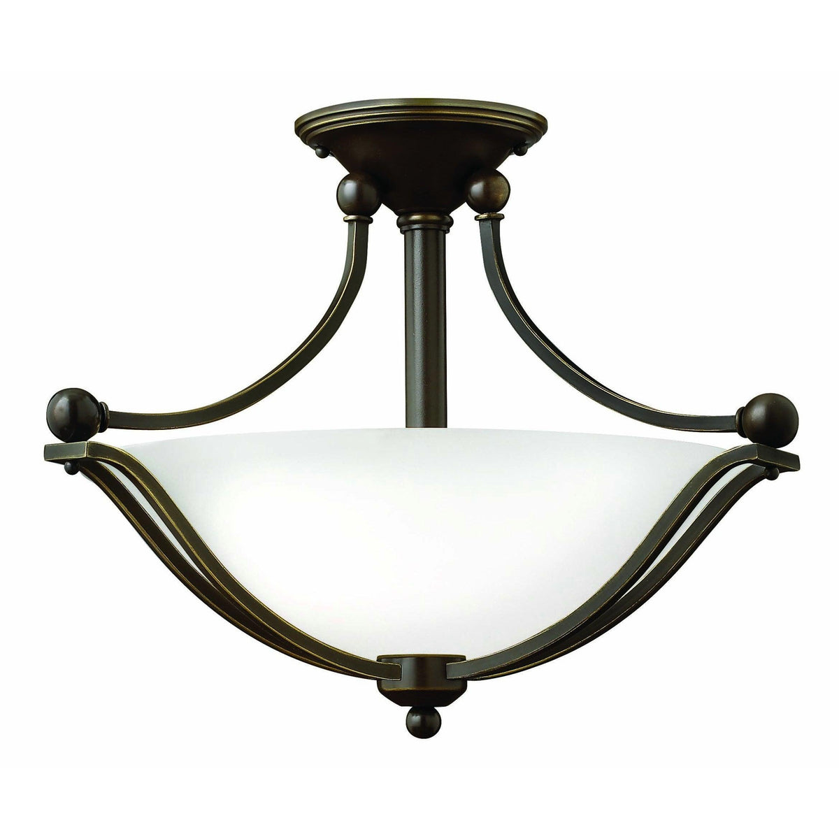 Hinkley Canada - 4651OB-OP-LED - LED Semi-Flush Mount - Bolla - Olde Bronze With Opal Glass