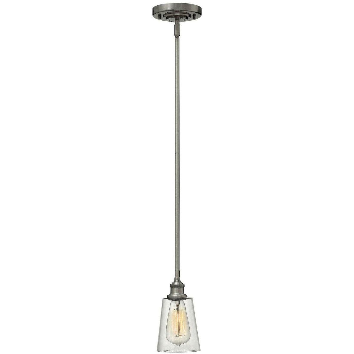Hinkley Canada - 4937PL - One Light Pendant - Gatsby - Polished Antique Nickel