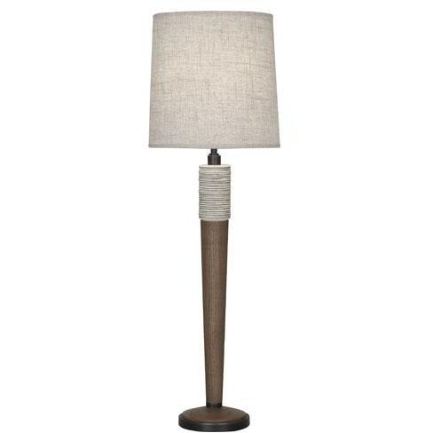 Robert Abbey - 574 - Buffet Table Lamp - Berkley - Antique Oyster & Walnuted Wood