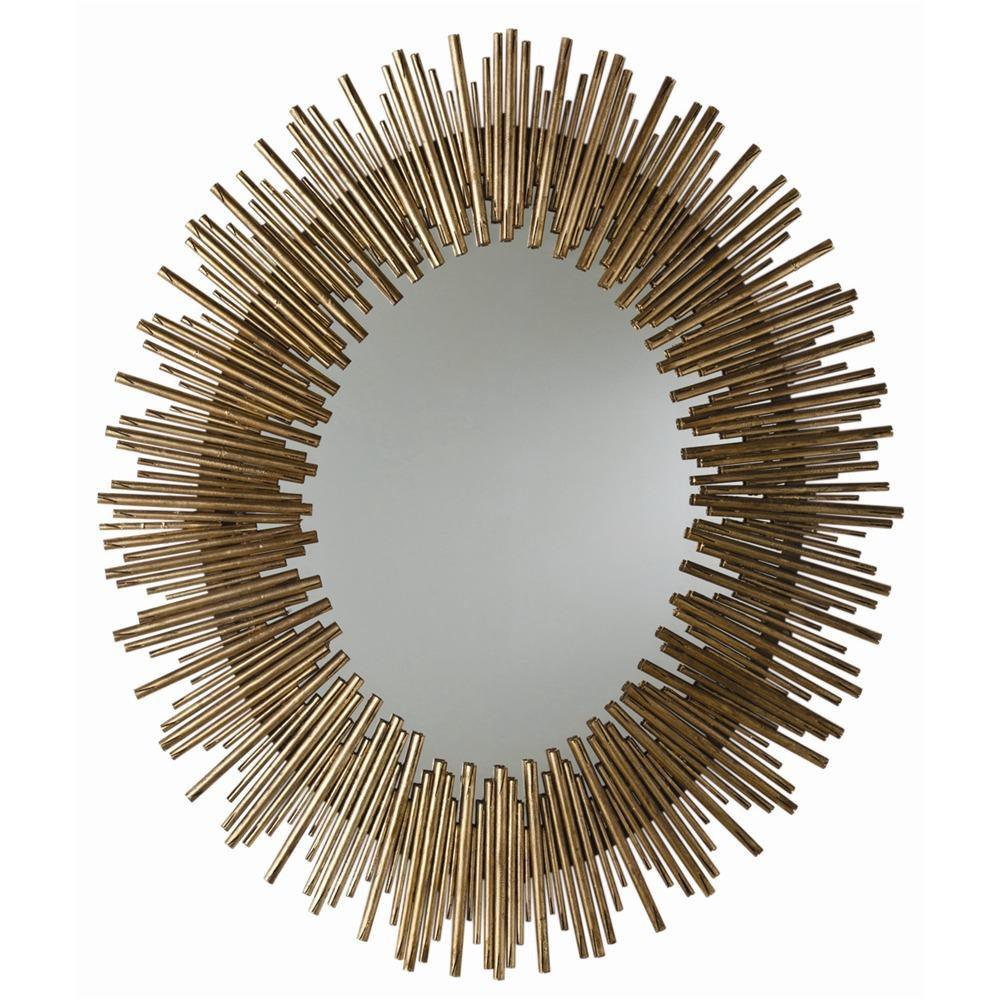 Arteriors - 6561 - Oval Mirror - Prescott - Antiqued Gold Leaf