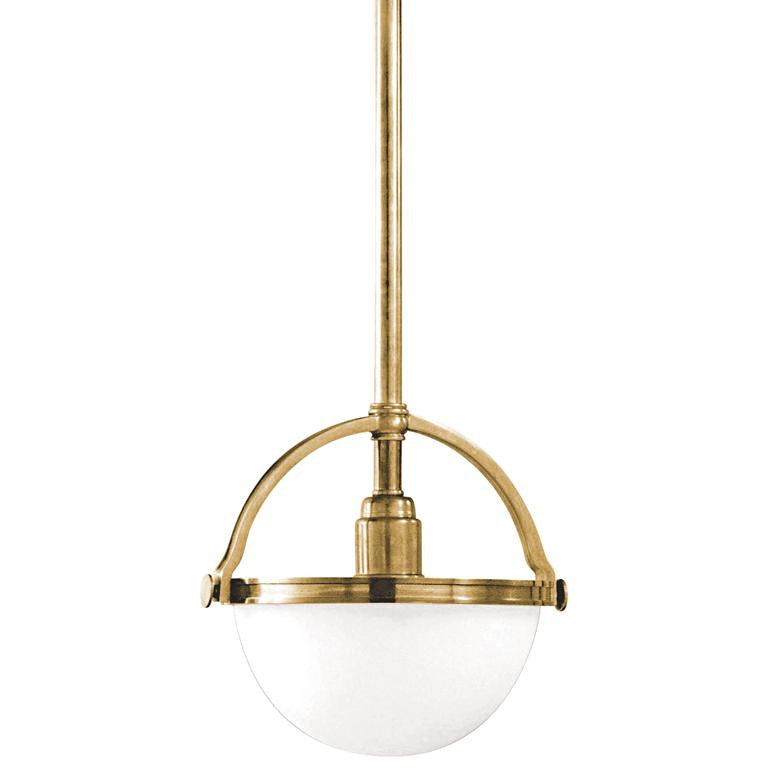 Hudson Valley - 3311-AGB - One Light Pendant - Stratford - Aged Brass