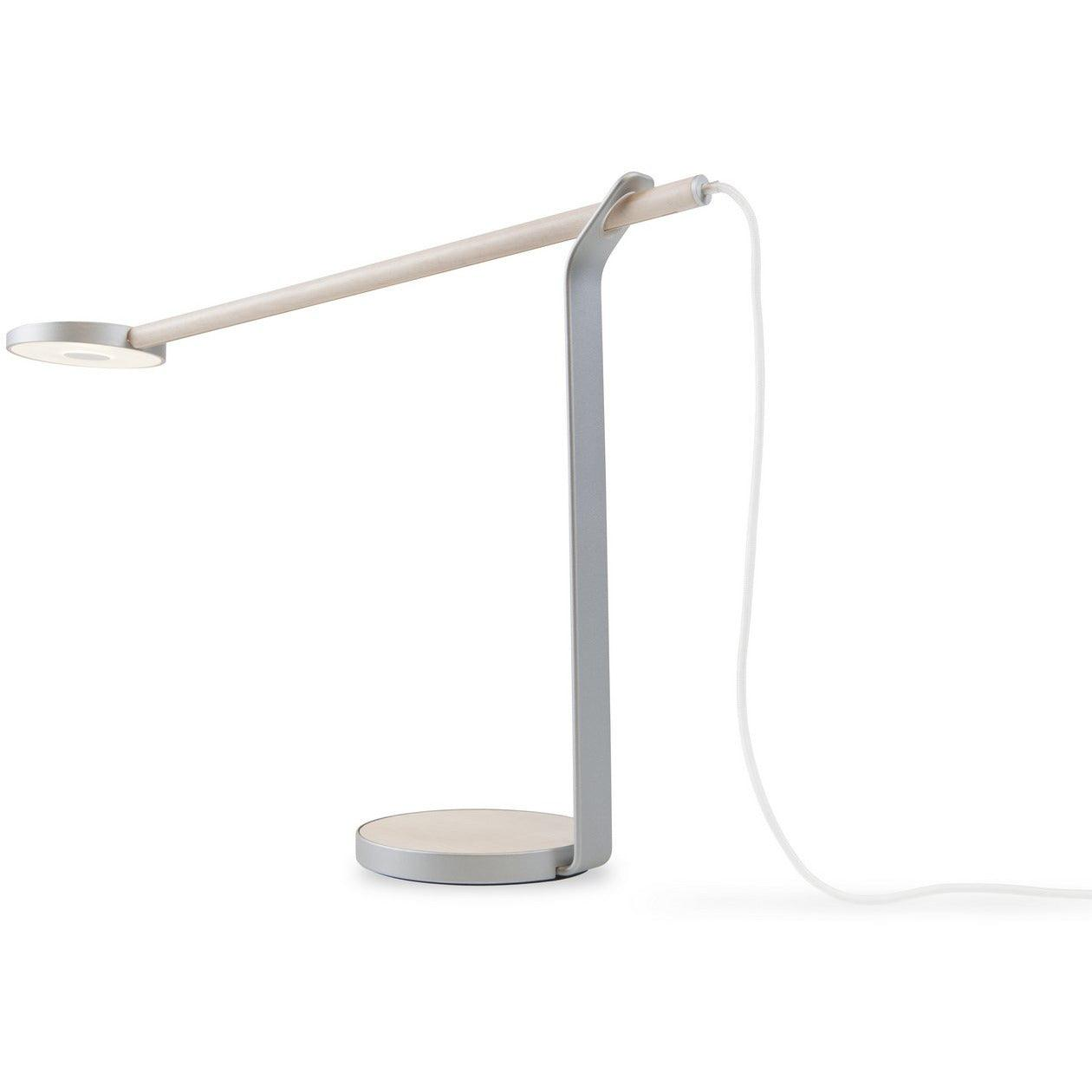 Koncept - GR1-W-MPW-SIL-DSK - LED Desk Lamp - Gravy - Maple/Silver
