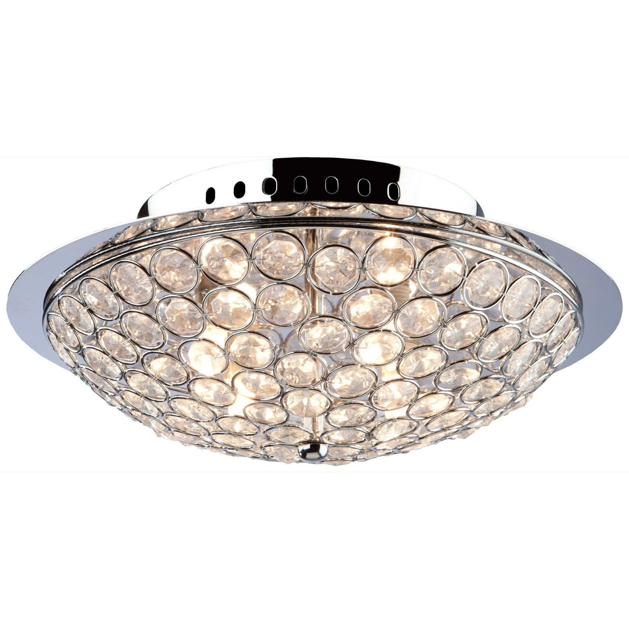 Artcraft Lighting - AC10100 - Three Light Flush Mount - Gage Park - Chrome